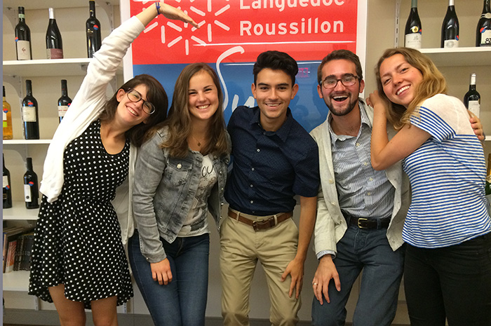Dickinson interns at Sud de France.