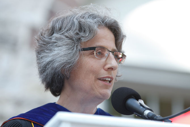 President Nancy Roseman delivers her 2013 convocation address.
