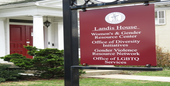 Picture of Landis House sign.