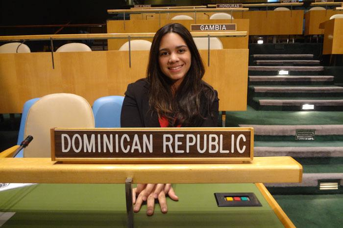 Sharaldine Francisco at the UN