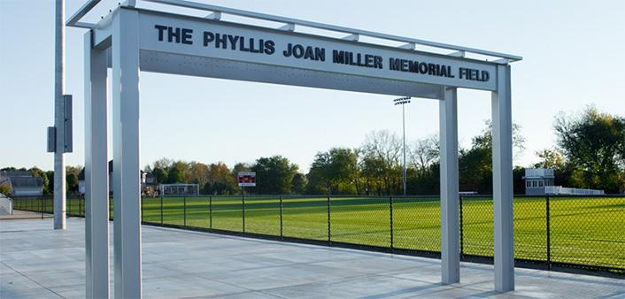 Located at Dickinson Park, the Phyllis Joan Miller Memorial Field is the new home of the men's and women's varsity soccer teams.