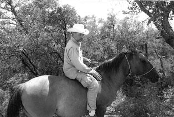 Picture of Carl Socolow riding bareback