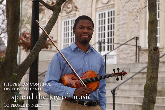 Alexander Strachan '13 is learning to make a difference through music.