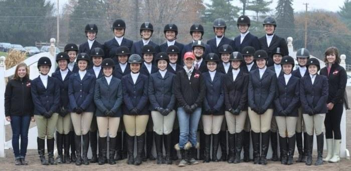 The equestrian team's fall 2013 photo