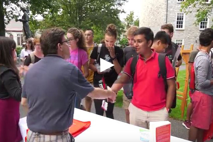 As part of the First-Year festivities, students learned about on- and off-campus resources to help them settle into their new hometown at the Resource Fair.