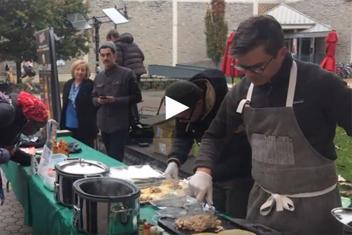 On November 14, 2017, celebrity chef and author Hugh Acheson visited the Dickinson campus to serve tacos, sell and sign his new book and raise money for his charity organization, Seed Life Skills.