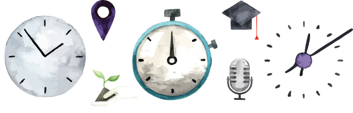 Watercolor clock image