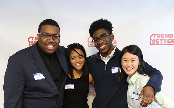 Trendsetters founders (from left:) Robert Hill '17, Jennifer Zapata '17, Zachary Penny '18 and Devlin Chen '17.