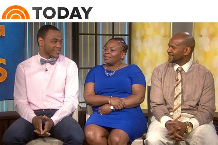 "Tyree Grant '18 recently appeared on the ""Today"" show to discuss his journey from from foster homes to a full scholarship to Dickinson."