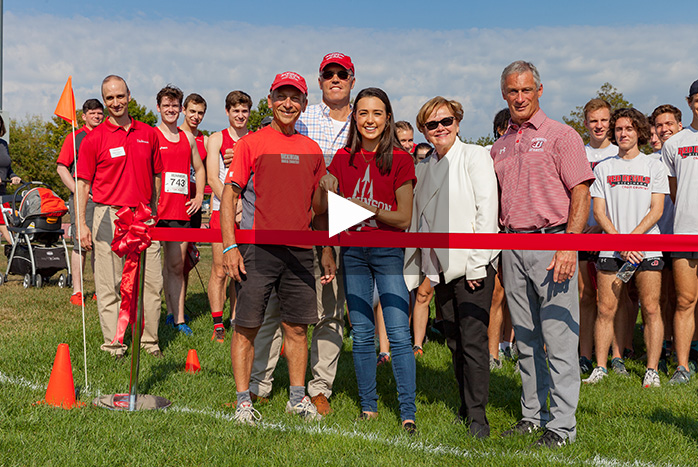 cross country ribbon cutting