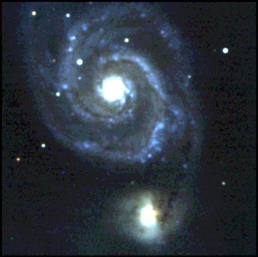 Here is an image of the whirlpool galaxy (M51a/NGC 5194) taken by a student using the Britton observatory