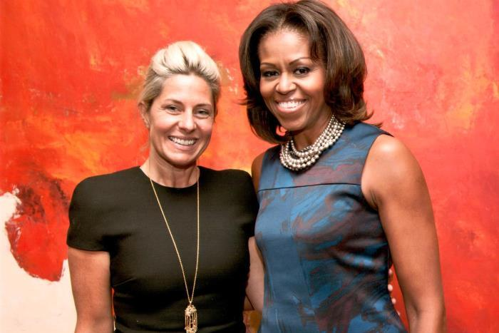 Amy Nauiokas and Michelle Obama