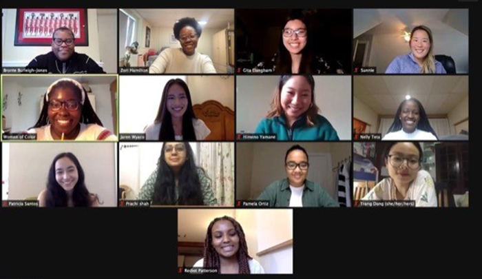 Minutes after the 2021 Women of Color Summit ended, student-organizers and co-advisors met online to discuss the challenging and successful event.