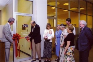 Writing Center Ribbon Cutting 2005